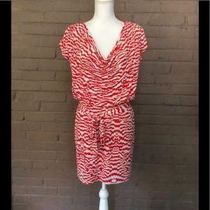 Laundry Orange and White Blouson Style Dress 6